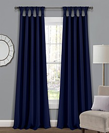 """Lush Decor Knotted Tab Top 52"""" x 84"""" Blackout Curtain Set"""