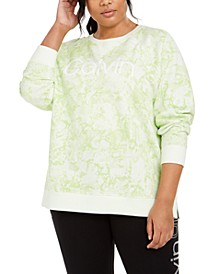 Plus Size Active Snake-Print Logo Sweatshirt