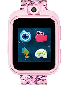 Unisex PlayZoom Pink Unicorn Strap Touchscreen Smart Watch 42x52mm
