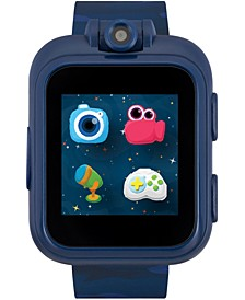 Kids PlayZoom Blue Camouflage Strap Touchscreen Smart Watch 42x52mm