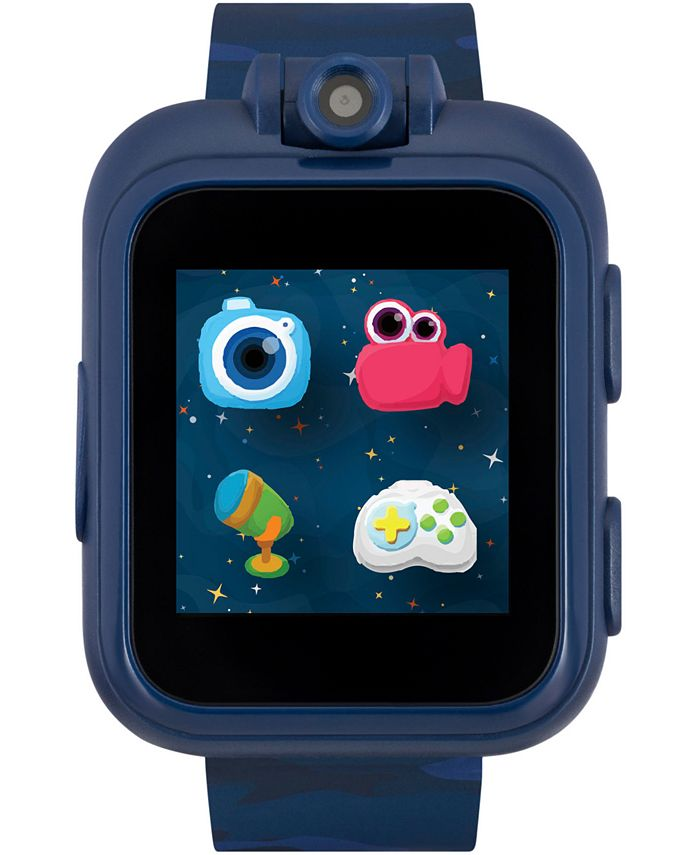 iTouch - Unisex PlayZoom Blue Camouflage Strap Touchscreen Smart Watch 42x52mm