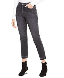 Holly Cropped High-Rise Zip-Detail Jeans