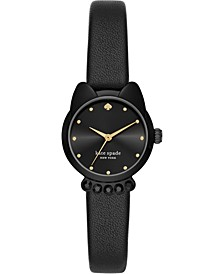Women's Cat Face Black Strap Watch 26mm