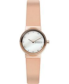 Women's Freja Pink Leather Strap Watch 26mm Box Set