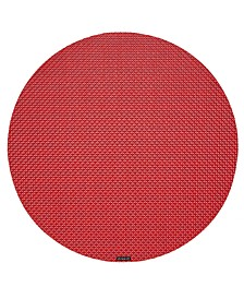 Basketweave Woven Vinyl Round Placemat