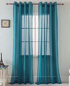 "Spyder Lace 54"" x 90"" Single Curtain Panel"