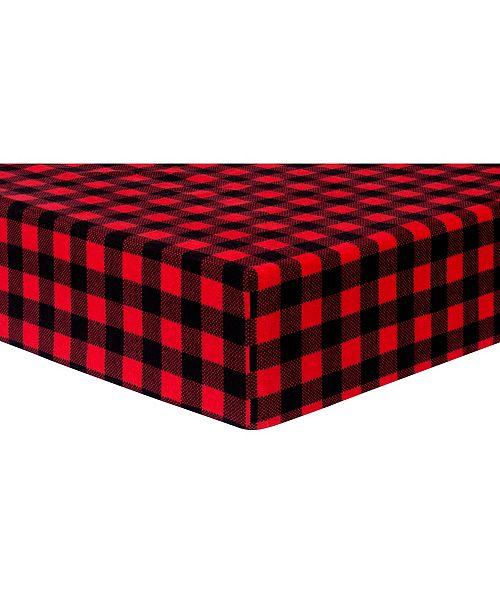 Trend Lab Buffalo Check Flannel Crib Sheet