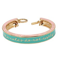 The Rules Do Not Apply Affirmation Color Cuff Bracelet