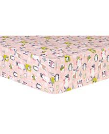 Snow Pals Flannel Crib Sheet