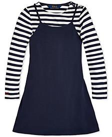 Toddler Girls Layered Jersey Dress & T-Shirt