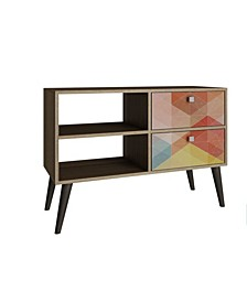Accentuation Practical Dalarna TV Stand with 2 Open Shelves and 2- Drawers