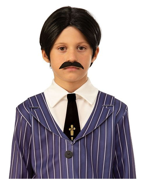 BuySeasons The Addams Family Kids Gomez's Wig and Moustache