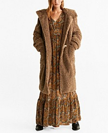 Faux Shearling Long Coat