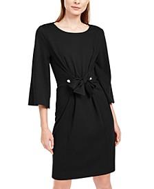 Petite Tie-Front Dress