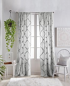 "Home Chenille Lattice 50""x95"" Backtab Window Panel"