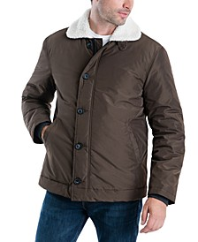 Men's Spring Hipster Jacket with Sherpa Collar
