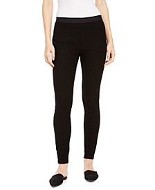 Pull-On Textured Skinny Leggings