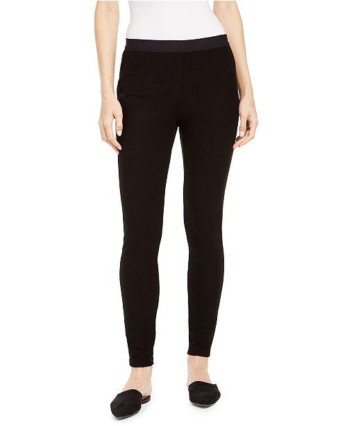 Eileen Fisher Pull-On Textured Skinny Leggings, Regular & Petite