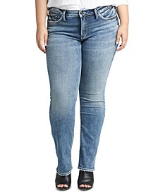 Trendy Plus Size Suki Curvy-Fit Straight-Leg Jeans