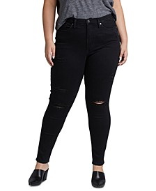 Trendy Plus Size Calley High-Rise Ripped Skinny Jeans