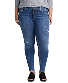 Trendy Plus Size Elyse Ripped Skinny Jeans