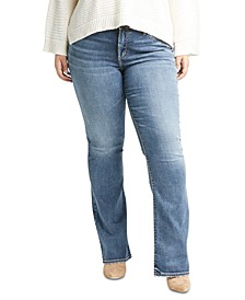 Trendy Plus Size Elyse Slim-Fit Bootcut Jeans