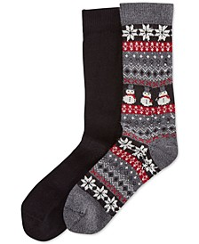 Women's 2 Pack Holiday Fairisle Boot Socks