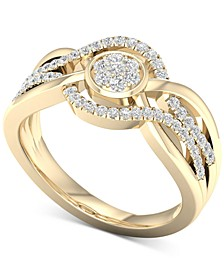 Diamond Openwork Statement Ring (1/3 ct. t.w.) in 10k Gold