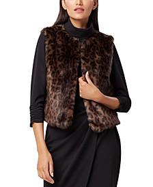 Leopard-Print Faux-Fur Vest