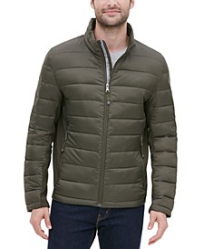 Men's Lightweight Puffer Jacket with Side Panels