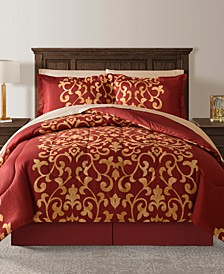 Palace Red Twin 6-Pc. Comforter Set