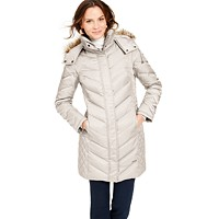 Deals on Kenneth Cole Faux-Fur-Trim Hooded Down Puffer Coat
