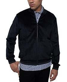 Men's Velour Bomber Jacket