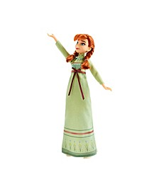 Disney Arendelle Fashions Anna Fashion Doll With 2 Outfits, Green Nightgown and White Dress Inspired by Disney's Frozen 2 Movie