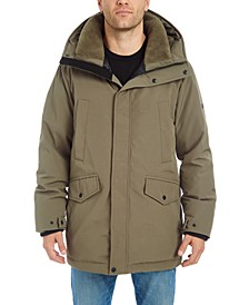 Men's Smooth Long Hooded Parka