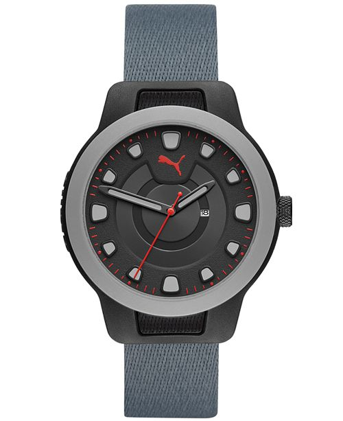 Puma Men's Reset Nylon Watch, 43mm