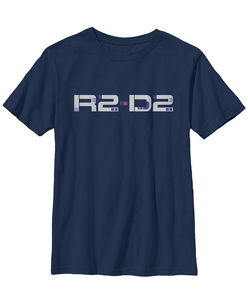 Star Wars Big Boys R2-D2 Droid Text Short Sleeve T-Shirt