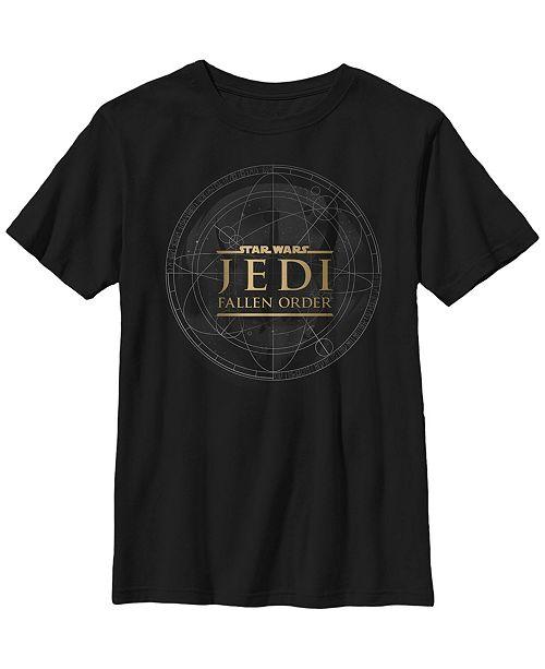 Star Wars Big Boys Jedi Fallen Order Map Short Sleeve T-Shirt