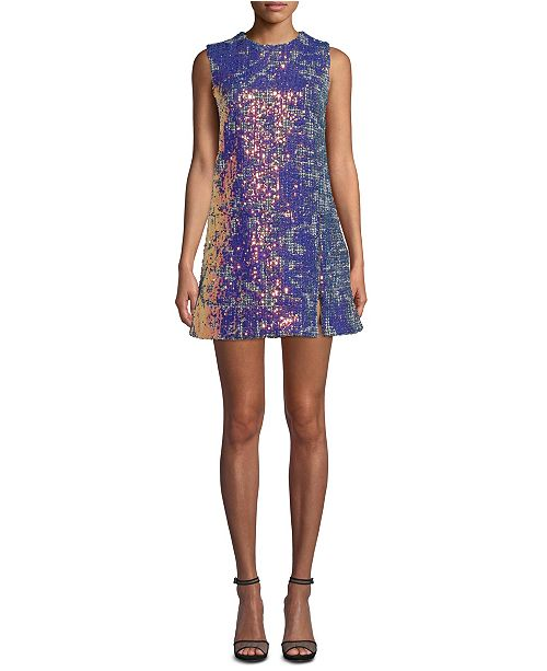 Nicole Miller Tweed Sequined Dress