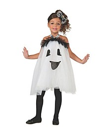 Big and Toddler Girls Ghost Tutu Dress Costume