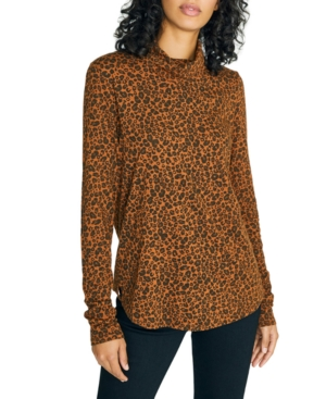 Sanctuary Tops ON A ROLL TURTLENECK PRINTED TOP