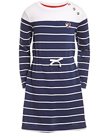 Little Girls Striped French Terry Dress