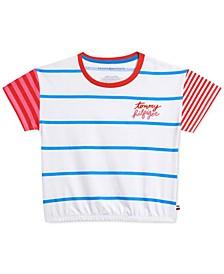 Big Girls Cotton Striped T-Shirt