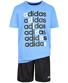 Big Boys Cotton T-Shirt & 3-Stripe Shorts