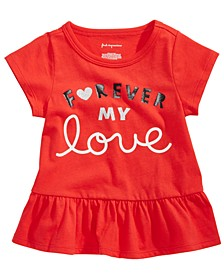 Baby Girls Forever-Print Cotton T-Shirt, Created For Macy's