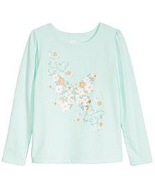 Toddler Girls Butterfly Flower T-Shirt, Created For Macy's