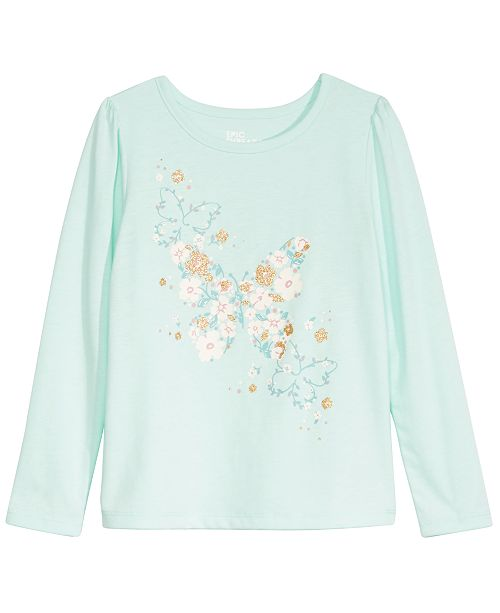 Epic Threads Toddler Girls Butterfly Flower T-Shirt, Created For Macy's