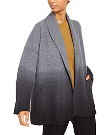 Wool Ombré Open-Front Cardigan, Regular & Petite