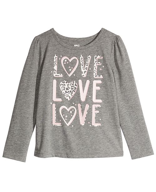 Epic Threads Toddler Girls Cheetah Love T-Shirt, Created For Macy's