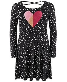 Little Girls Dot Heart Dress, Created For Macy's